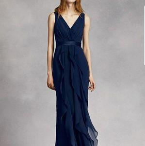 White by Vera Wang Marine size 16 bridesmaid dress